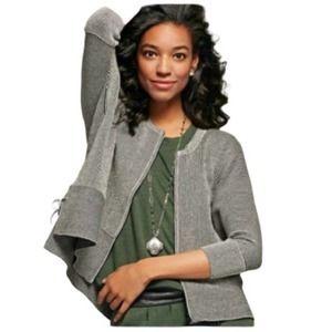 CAbi #3526 Cupid's Black Pinstripe Cardigan Sweater Women's Size Medium M